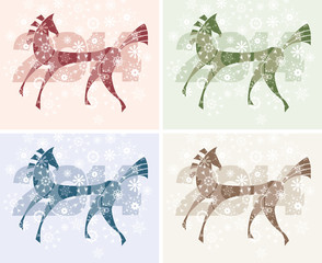 2014 Year of the horse card.