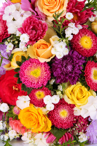 Poster Bright flowers background