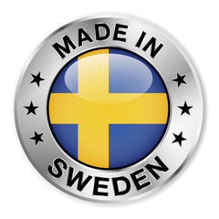 Made In Sweden Silver Badge