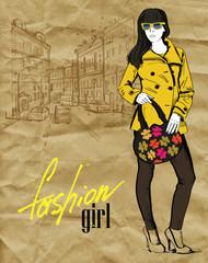 vector fashion girl
