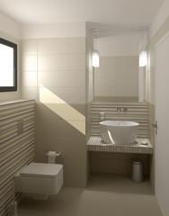 Toilettes beiges