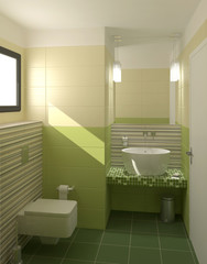 Toilettes vertes