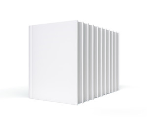 Isolated Blank Books