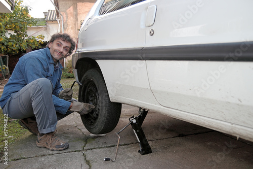tire puncture