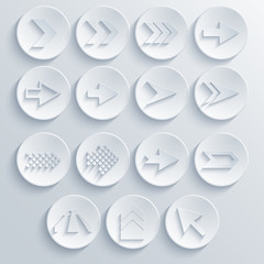 Vector arrow circle icon set. Eps 10