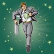 Green Hero in Suit
