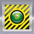 Alarm schwarz gelb gruen safe