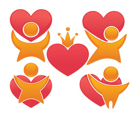 vector collection of love, people and hearts