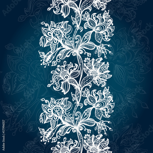 Abstract Lace Vertical Seamless Pattern.