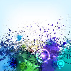 Cold ink blots background