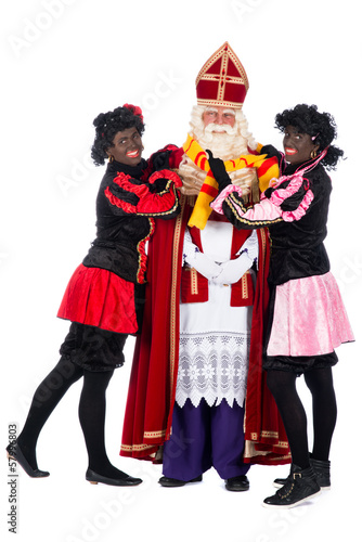 Sinterklaas having a cold
