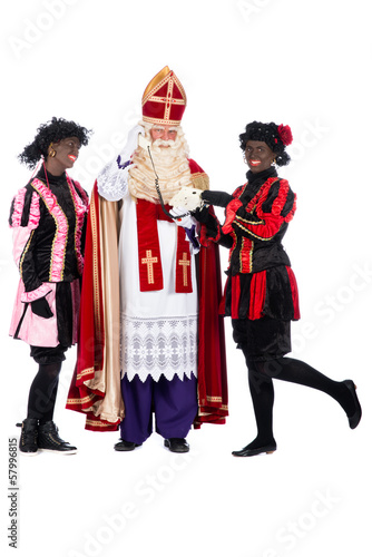 Sinterklaas is making a phonecall