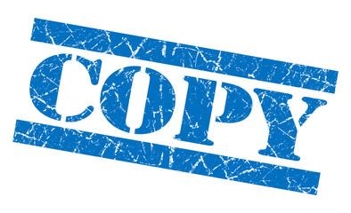 Copy blue grunge rubber stamp