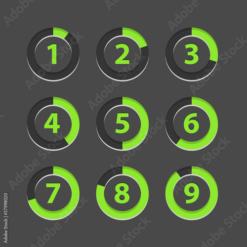 Countdown section icons template