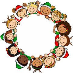 Children christmas circle