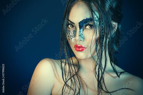Fototapeten,fairy,glamourous,makeup,bizarre