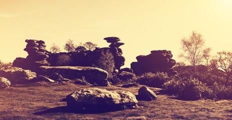 wide angle rock landscape