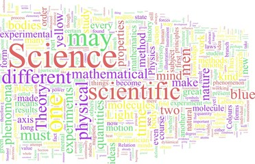 Word Cloud based around the Writings of James Maxwell Clerk