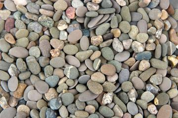 Small sea stones, close up