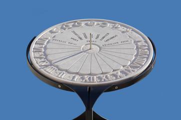 Equatorial Marble Sundial in Aiello del Friuli