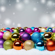 Voucher for christmas with colourful baubles