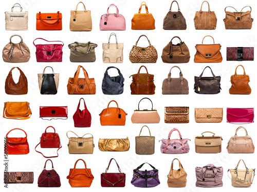 Leinwanddruck Bild Female bags collection