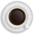 Cup of coffee on saucer