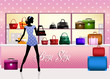 woman buys bags