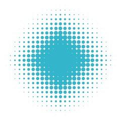 Rundes Muster mit Verlauf aus hellblauen Kreisen