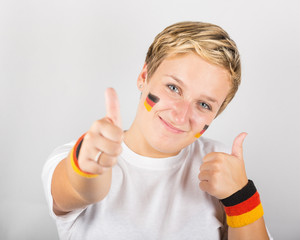 Happy German Supporter