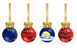 Christmas decoration with ribbon - Series 4 decorations