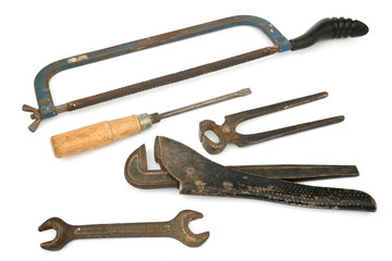 adjustable spanner with old tools