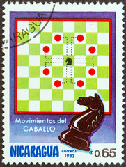 Knight movements in chess (Nicaragua 1983)
