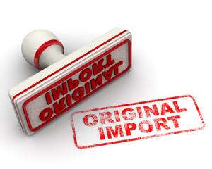 Original import. Печать и оттиск