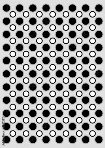 Black and white circles background
