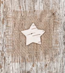 Star shape made of birch bark