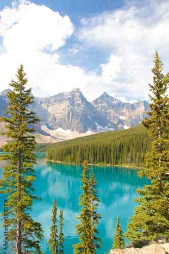 Moraine Lake vertical view