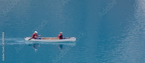Canoe on Moraine Lake
