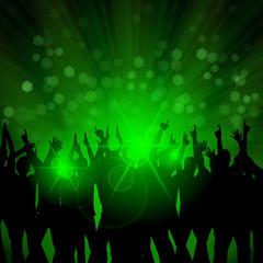 publikum vor buehne blendendes licht IV