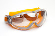 protective eye-wear on white background