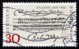Postage stamp Germany 1968 Opening Bars, Richard Wagner poster