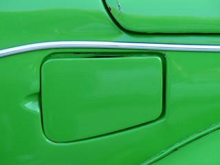 Tankdeckel eines deutschen Kleinwagen der Siebziger Jahre