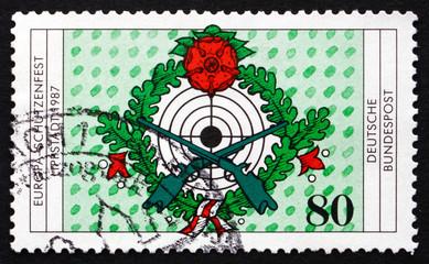 Postage stamp Germany 1987 Target