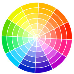 Standard color wheel isolated on white