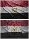 Egypt flag and map collage