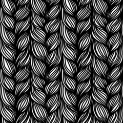 Abstract seamless pattern with braids