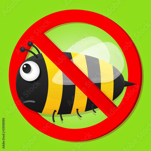 No bees sign