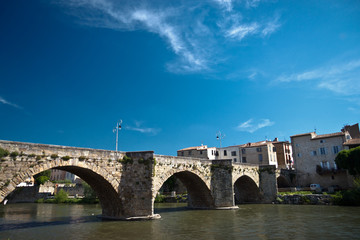 bridge in Limoux, Brance