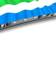 Designelement Flagge Sierra Leone