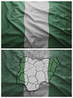 Nigeria flag and map collage